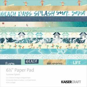 Kaisercraft 'Summer Splash' Paper Pad 6.5 x 6.5 scrapbook paper