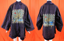 Antique Chinese Civil Rank Badge Wild Goose Counted Stitch Embroidery Mens Robe