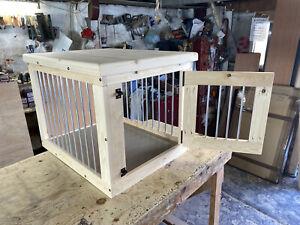 indoor dog kennel with door on short side