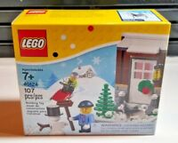 NEW SEALED LEGO (40124) Limited Edition Winter Holiday Set - Fun in Snow w/Husky