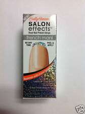 SALLY HANSEN SALON EFFECTS REAL NAIL POLISH STRIPS ( #002 Silve Lining ) French