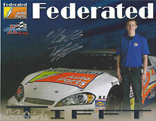 "SIGNED 2014 MATT TIFFT ""FEDERATED AUTO PARTS"" #52 NASCAR K&N / ARCA  POSTCARD"