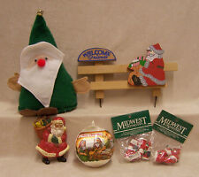 Santa Claus Lot of 12 Christmas Decor Items Ornaments Beanbag More