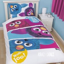 Official Furby Furbish Single Duvet Cover Bed Set Furbies New Gift