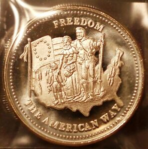 1 oz .999 SILVER Coin Bullion: JOHNSON MATTHEY : The American Way