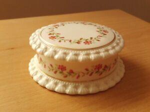 Vintage Caprice Elizabethan Fine Bone China Lidded Trinket Box Floral Design.