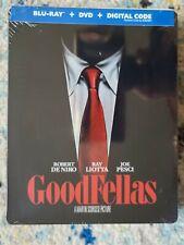 Goodfellas Steelbook (Blu-ray+DVD+Digital 2020) Factory Sealed Exclusive NEW OOP