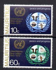 X7: Mauritius Postfrischer Satz Silverjubilee UN 1970