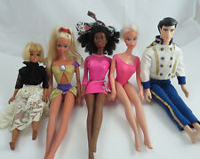 Vintage Barbie Dolls / Disney 1980's Mixed Lot Collection With Clothes Five (5)