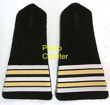 Lieutenant-Colonel Pompiers Départementaux - Pattes d'épaules - velours noir