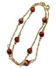 Venturina Round 4mm Ball Necklace 16 inch 18k Gold Plated - Venturina Necklace