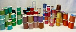 Vintage Lot of 88 Thread Spools Multi-Color SEWING Craft QUILTING NEW & Used