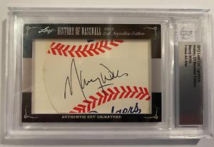 2012 Leaf History of Baseball Cut Signature Edition MVP MAURY WILLS Auto