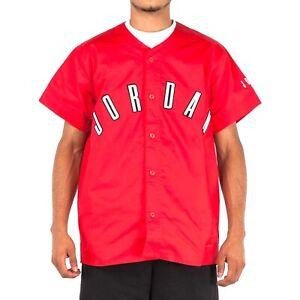[AT4511-657] Men Air Jordan Sportswear Vault 92 Woven Red Baseball Jersey *NEW*