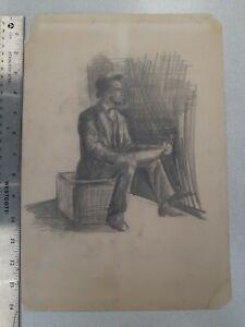 19th Century Impressionist Drawing