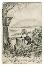 CPA-Carte Postale-Suisse- Un enfant priant la Sainte Vierge  en 1902-VM8640