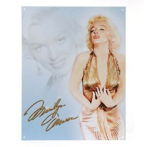 Metall Schild Vintage Sign Marilyn Monroe Rockabilly Nose Art Hot Rod Rockn Roll