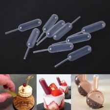 50 PCS 4ml Plastic Squeeze Transfer Pipettes Dropper For Cup Cakes Strawberries