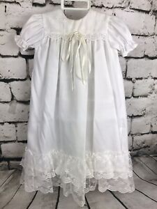 Doll Dress Eyelet lace Vintage 1980 \u201c Toddle Tykes \u201c  Christening Baptism  gown w Tag