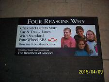 Chevrolet Standard Four Wheel ABS Heartbeat Of America Dealer Showroom Sign