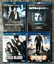 4 BLU-RAY THRILLER : INTRACABLE / THE SPECIALIST / COLD BLOOD / MICHAEL CLAYTON