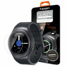 For Gear S2 Screen Protector Spigen [Glas.tR Slim] Tempered Glass Saver 2 pack