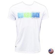New Lacoste Men's White Crew Neck Cotton T-shirt Short Sleeve size L (2465)