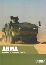 OTOKAR ARMA 6x6 2015 TURKISH ARMY MILITARY BROCHURE PROSPEKT FOLDER