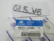 NEW GENUINE GLS V6 Trunk Deck Lid Emblem OEM For 2001-2003 Hyundai Sonata