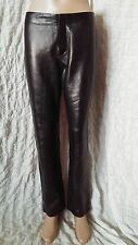Ralph Lauren black straight leg 100% genuine leather trousers size 10 UK, 8 USA