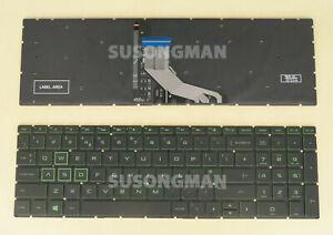 New UK Keyboard For HP Pavilion GAMING 15-CX000 15-cx0001na Laptop Green Backlit