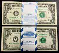 2009 STAR NOTE $1 Dollar Bill , Crisp, consecutive,uncirculated *GEM*