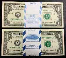 2009 STAR NOTE $1 Dollar Bill , Crisp, consecutive,uncirculated *GEM*