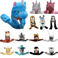 Cartoon Animal Hat Plush Beanie Fleece Winter Warm FLUFFY HOODED Cap Earmuff US