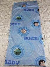 Toy Story Full Flat Sheet Woody Buzz Lightyear Rex Blue Circles Disney Pixar