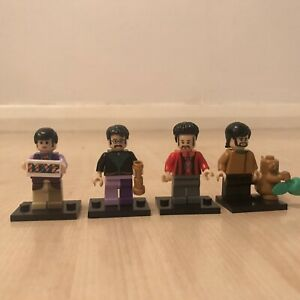 BEATLES FIGURES LENNON McCARTNEY RINGO GIFT SET SIMILAR TO LEGO 4 FIGURES