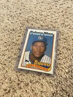 1989 Topps Gary Sheffield Rookie Card Milwaukee Brewers #343 Baseball Card Mint