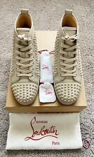 Authentic Christian Louboutin Louis Spikes Mens Sneaker US10.5 EU43.5 UK9.5