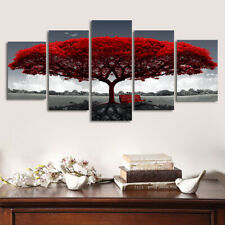 Unframed Modern Red Tree Art Oil Canvas Paintings Picture Print Home Wall Decor