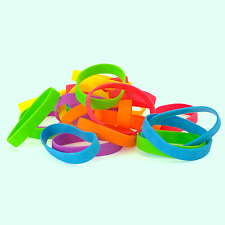 120pk Assorted Rubber Party Favor Bracelets Arcade Prizes Stocking Stuffer Toys