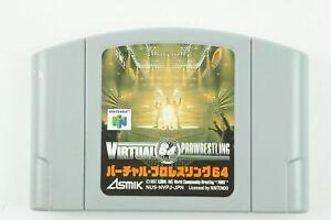 Virtual Pro Wrestling 64 N64 Asmik Ace Nintendo 64 From Japan