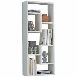 WOHNLING Wandregal ROSALIE Weiß 36x90x13,5 cm Holz Design Hängeregal modern | Wa