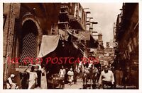 EGYPT - CAIRO, Native Quarter, Busy Street Scene - Real Photo