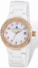 Ladies Charles Hubert White Ceramic 38mm Watch