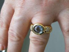 Wertvoller Aquamarin-Ring 3,0 ct, Gold 750, mit Brillianten 0,30 ct, Unikat