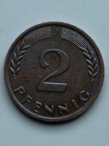 2 Pfennig Münze 1961 ''J'' Nicht Magnetisch, Sammlerstück