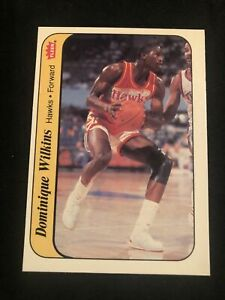 1986 Fleer Basketball #11 Dominique Wilkins Sticker Hawks RC HOF NM!! SET BREAK