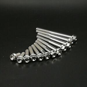 4pcs TITANIUM Ti Hex Head Flange Bolt M6X10 15 20 25 30 35 40 45 50 55 60 65mm
