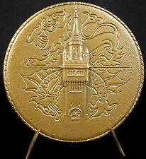 Médaille beffroi l'hôtel de ville de Dunkerque Port autonome 1967 blason medal