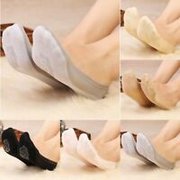 5Pairs Fashion Women Invisible No Show Nonslip Loafer Boat Liner Low Cut Socks